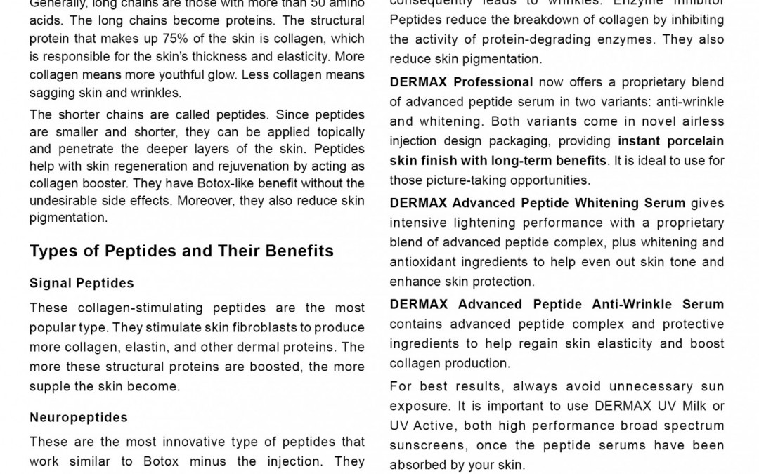 Peptides New Anti-Aging Breakthrough